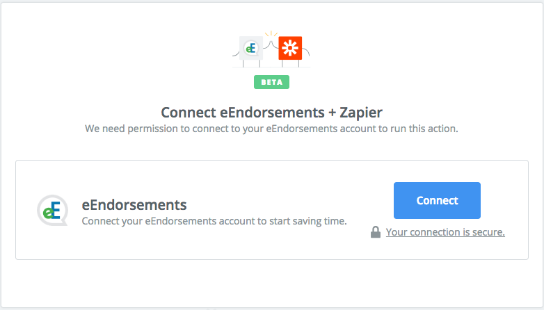Click to connect eEndorsements