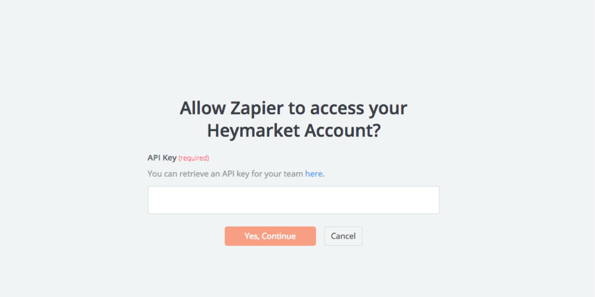Heymarket API Key