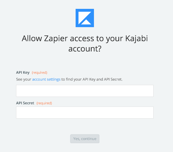 Kajabi username and password