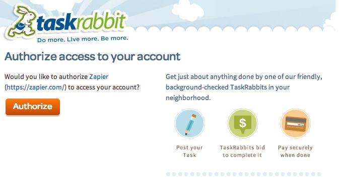 TaskRabbit Authorize