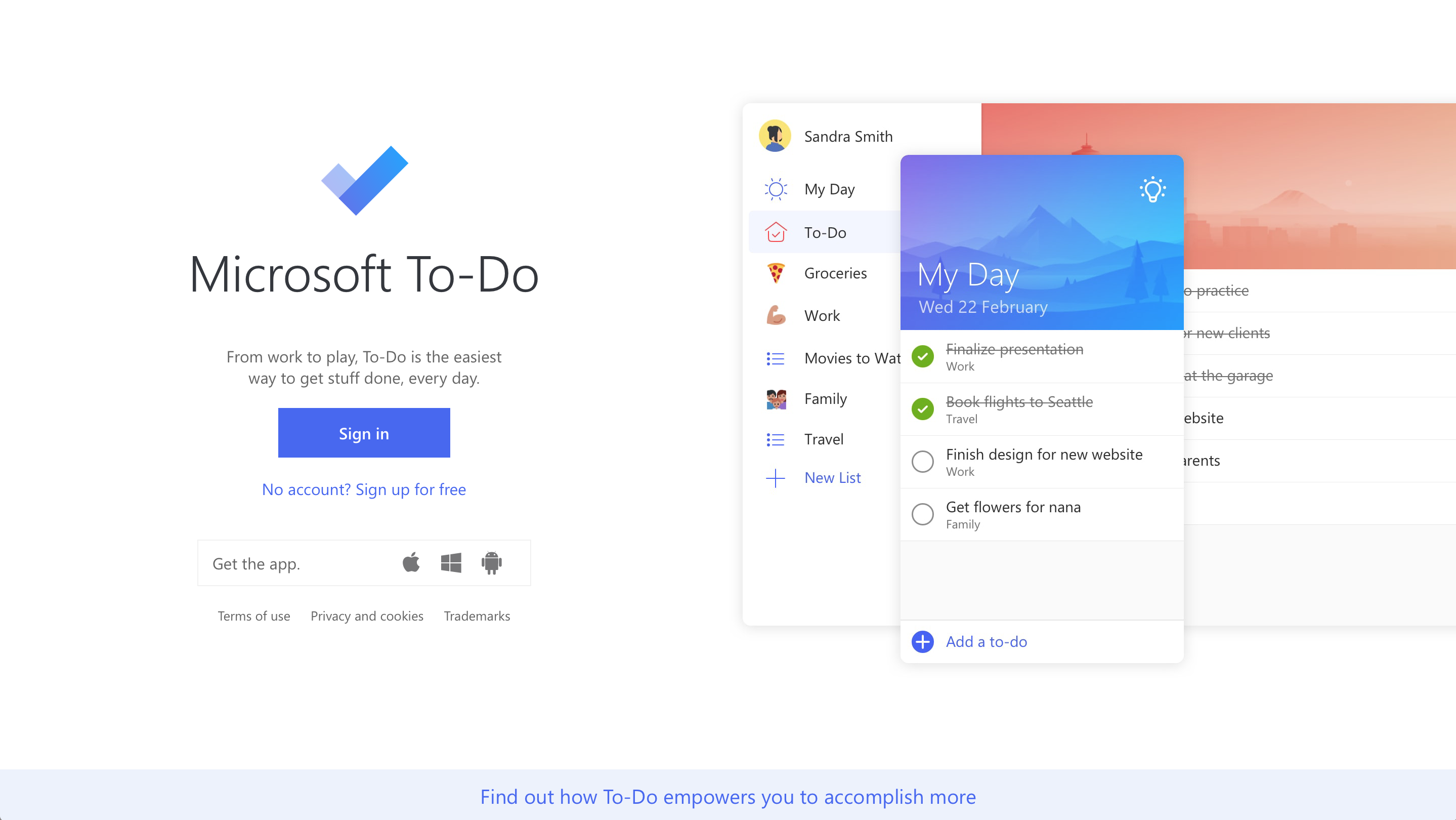 Microsoft To-Do Screenshot Examples & Demo Videos | Zapier