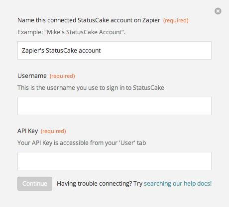 Finding your StatusCake API Key