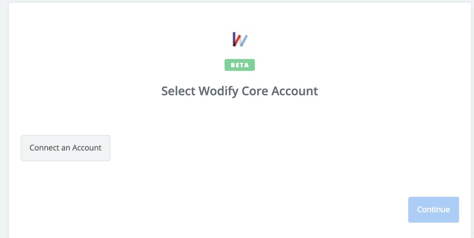 Click to connect Wodify Core