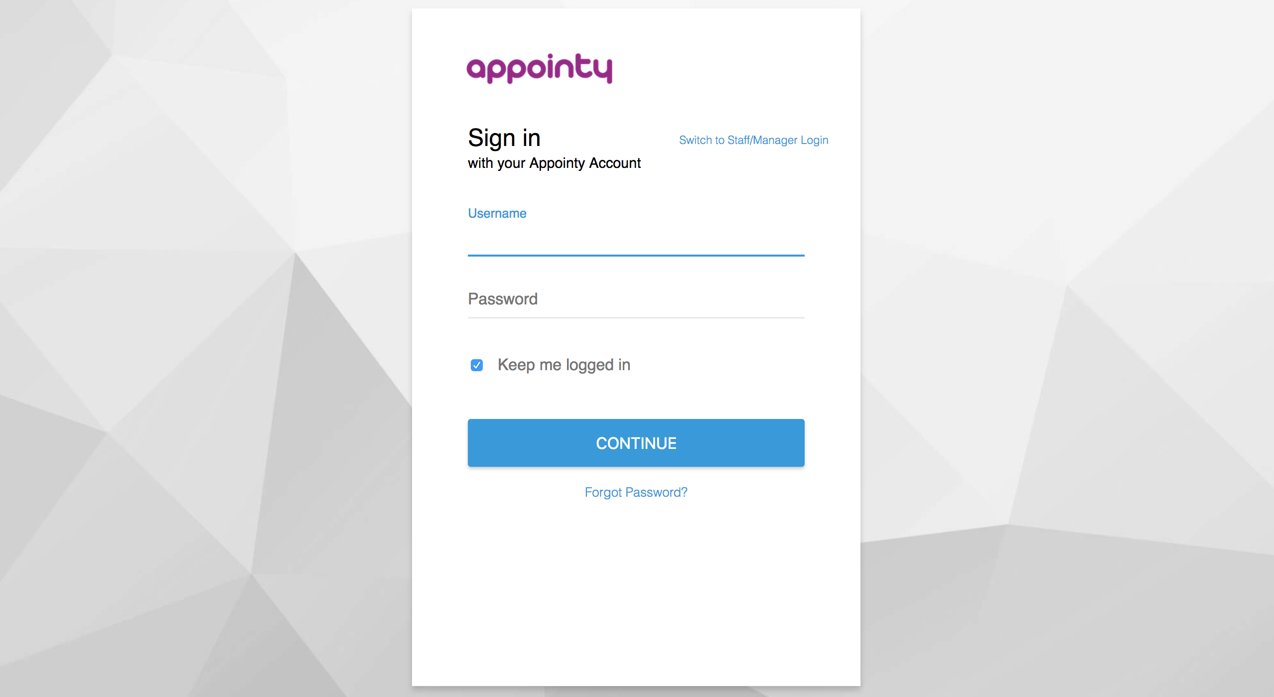 Login to Appointy