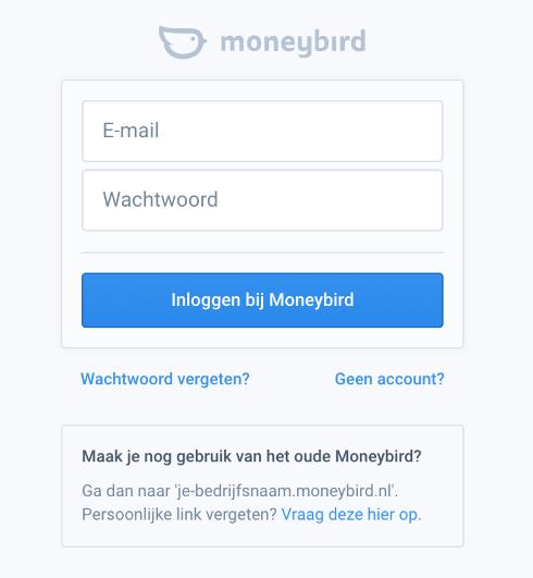 Login to Moneybird
