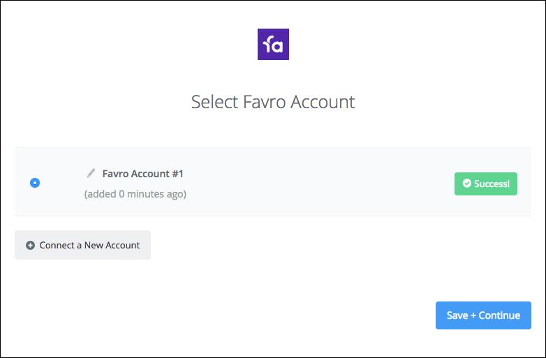 Favro connection successfull