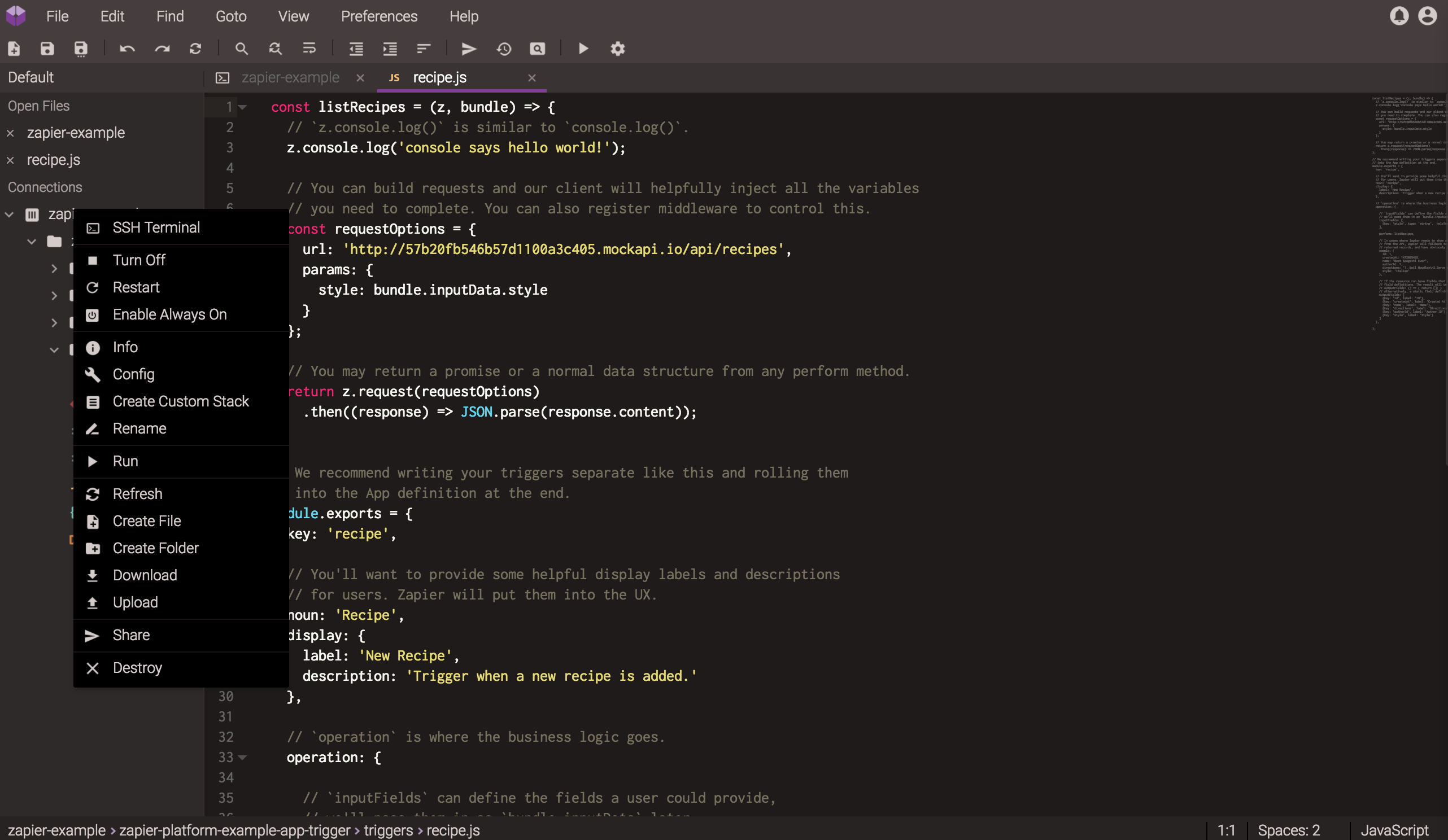Full CodeAnywhere editor screen