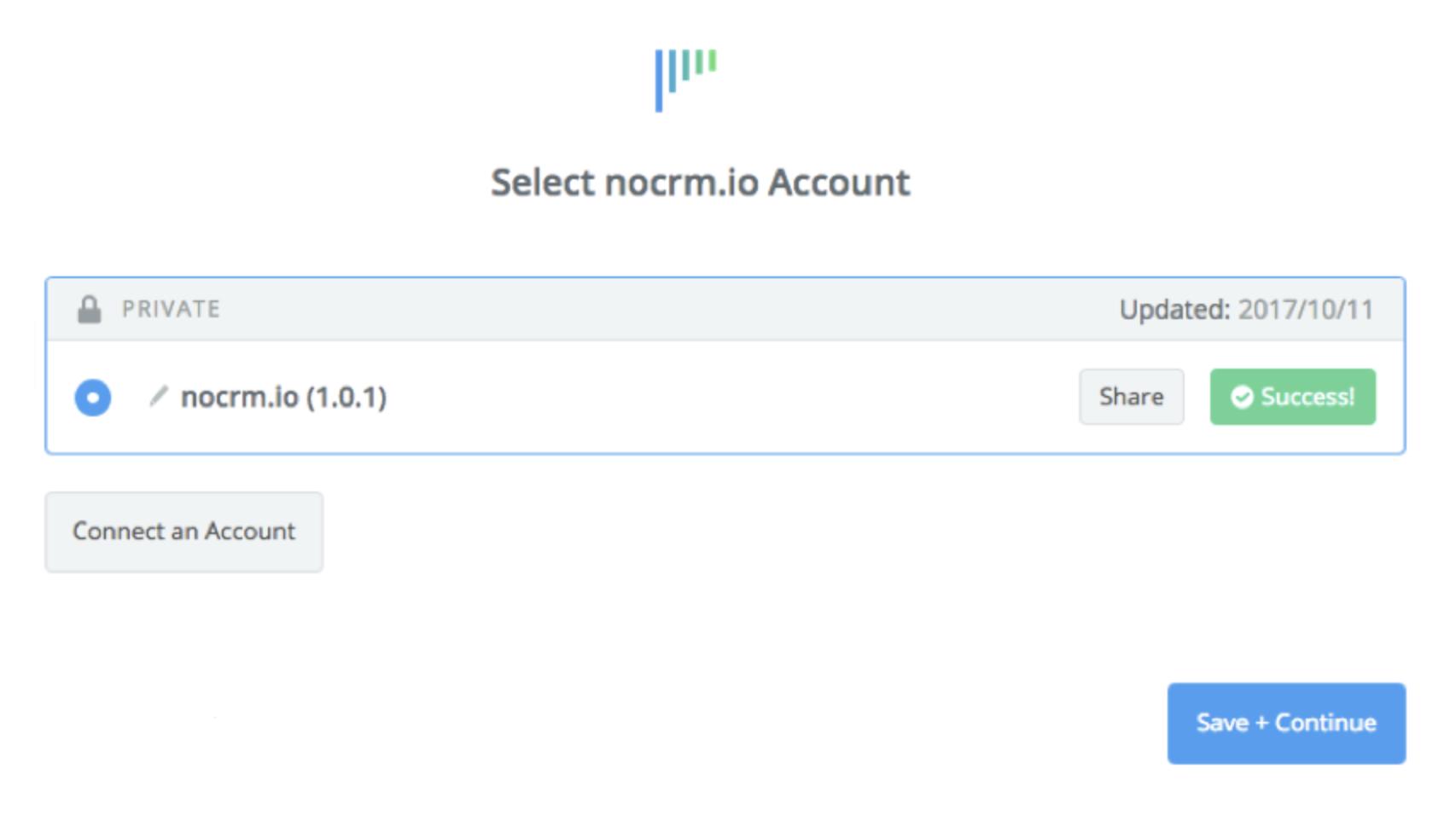 noCRM.io connection successfull