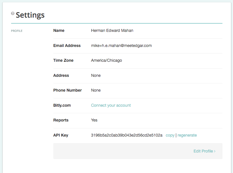 Top Nav, API Key in Settings