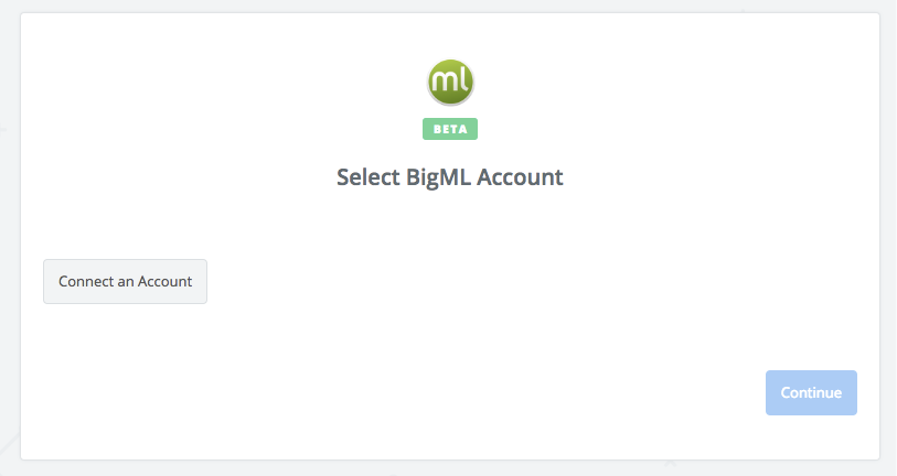 Click to connect BigML