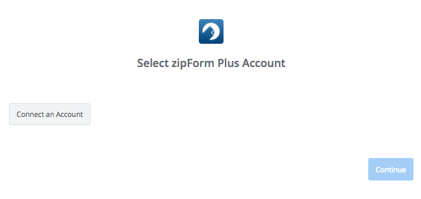 Click to connect ZipForm Plus