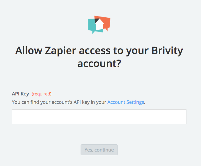 Brivity API Key