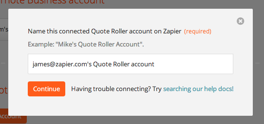 Quote Roller Quote Roller  Integration Help & Support  Zapier