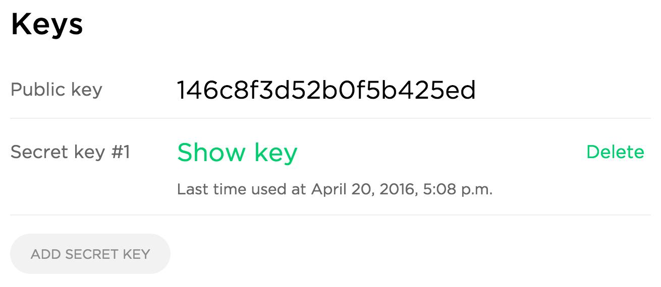 Uploadcare API Keys