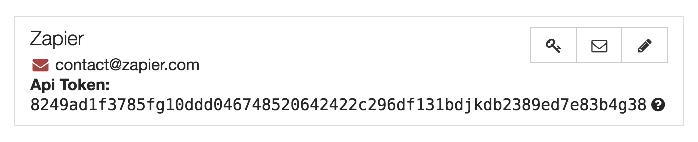Beepsend API Key in user account