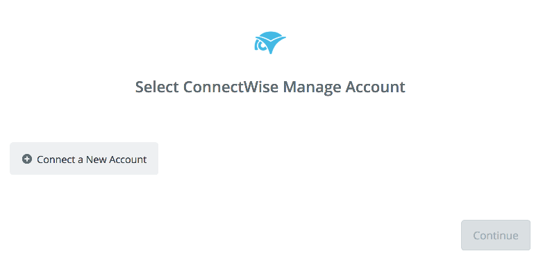 Click to connect ConnectWise Manage's