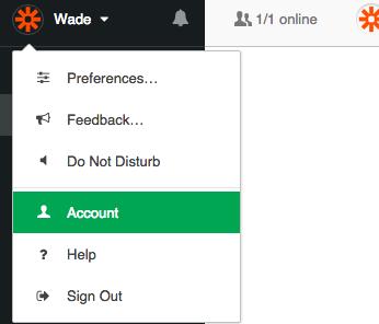 Flowdock Account Settings