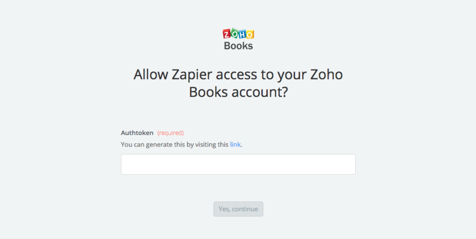 Zoho Books API Key