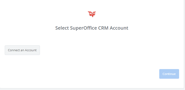 Click to connect SuperOffice CRM