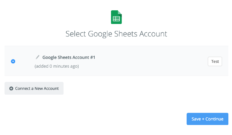 Successfully connected to Google Sheets