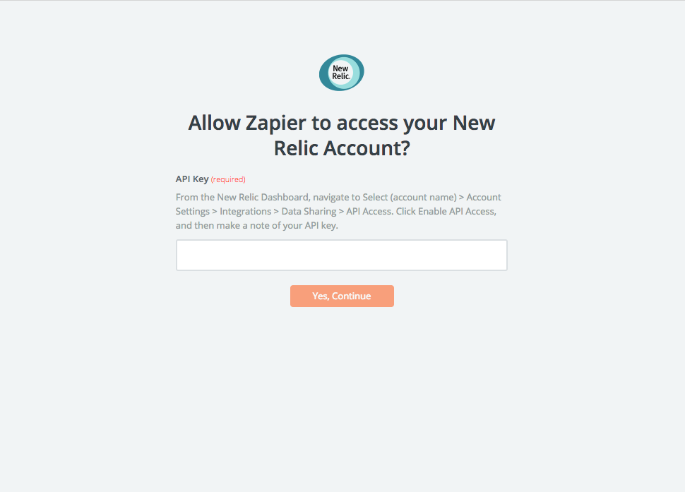 Connect New Relic to Zapier