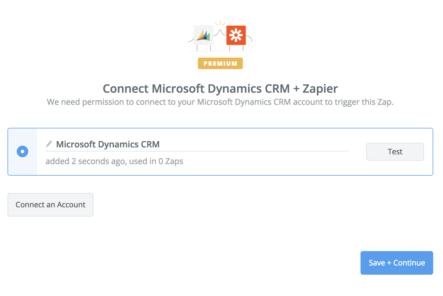 Microsoft Dynamics CRM  connection successful