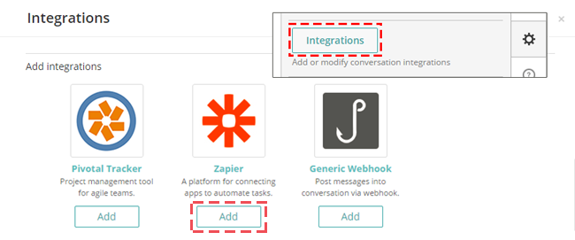 Add Zapier hook