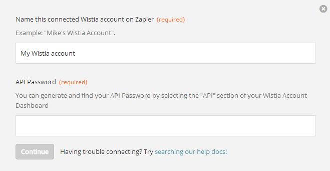 Wistia - Integration Help & Support | Zapier