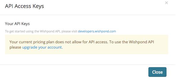 Wishpond no api keys