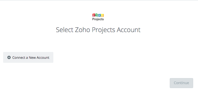 Click to connect Zoho Projects