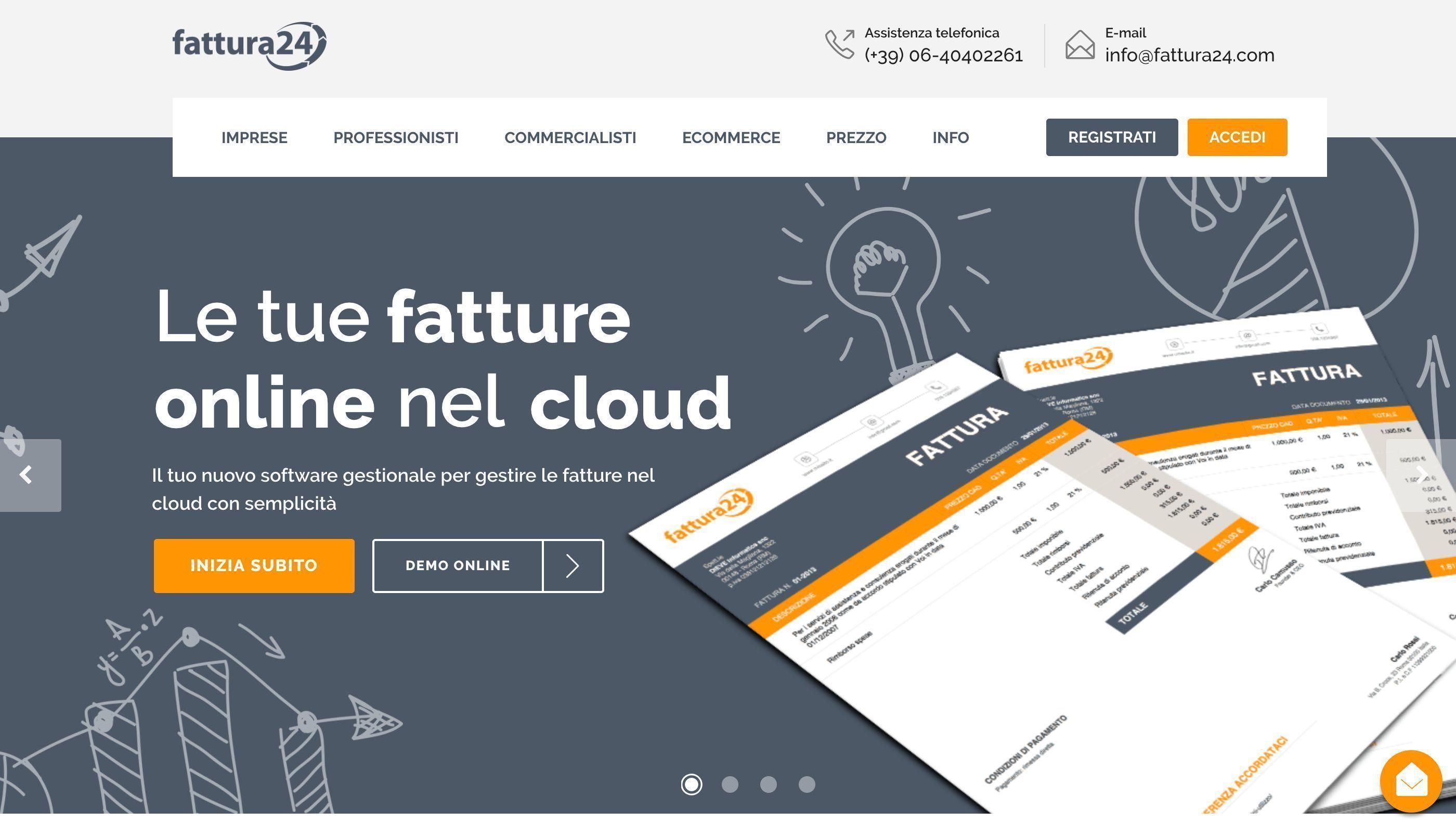 Fattura24 home page