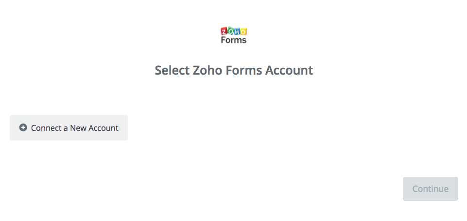 Click to connect Zoho Forms