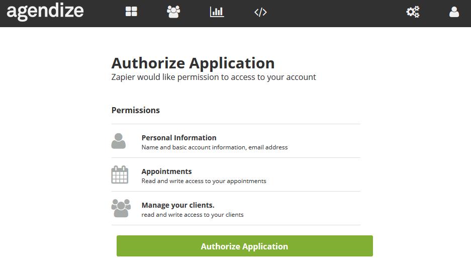 Authorize Agendize on Zapier