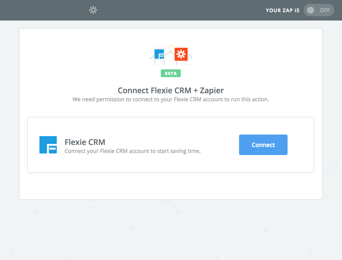 Click to connect Flexie CRM