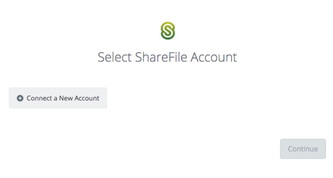 Click to connect ShareFile