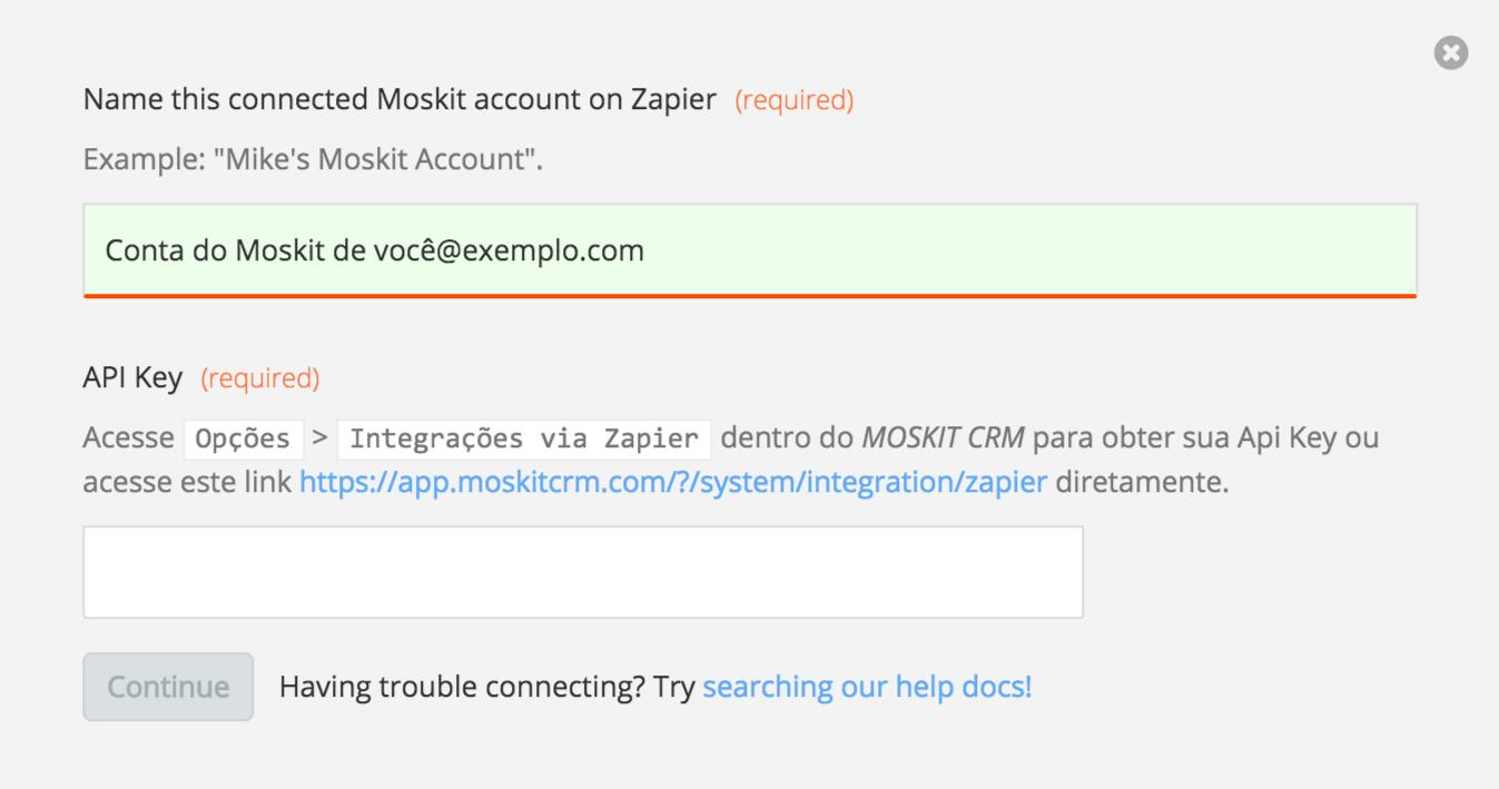 Moskit API Key