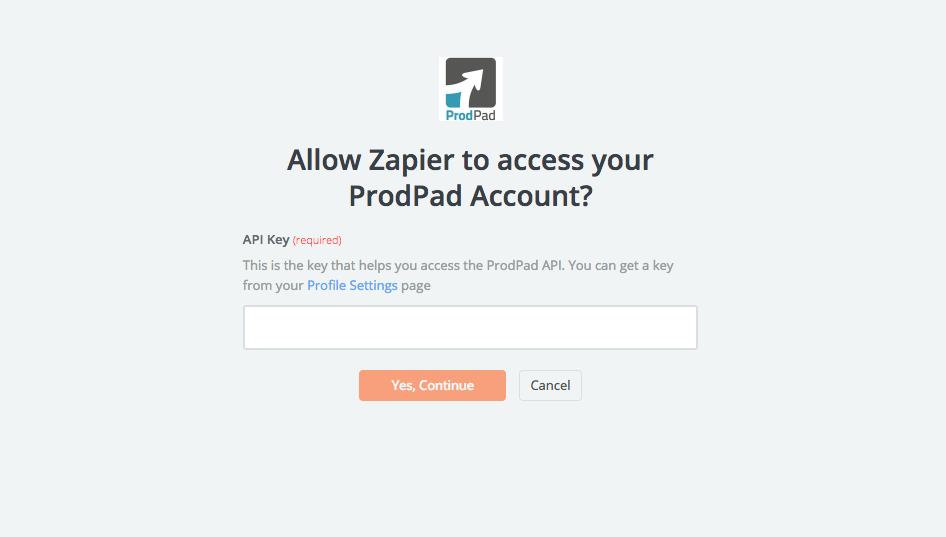Finding your ProdPad API Key