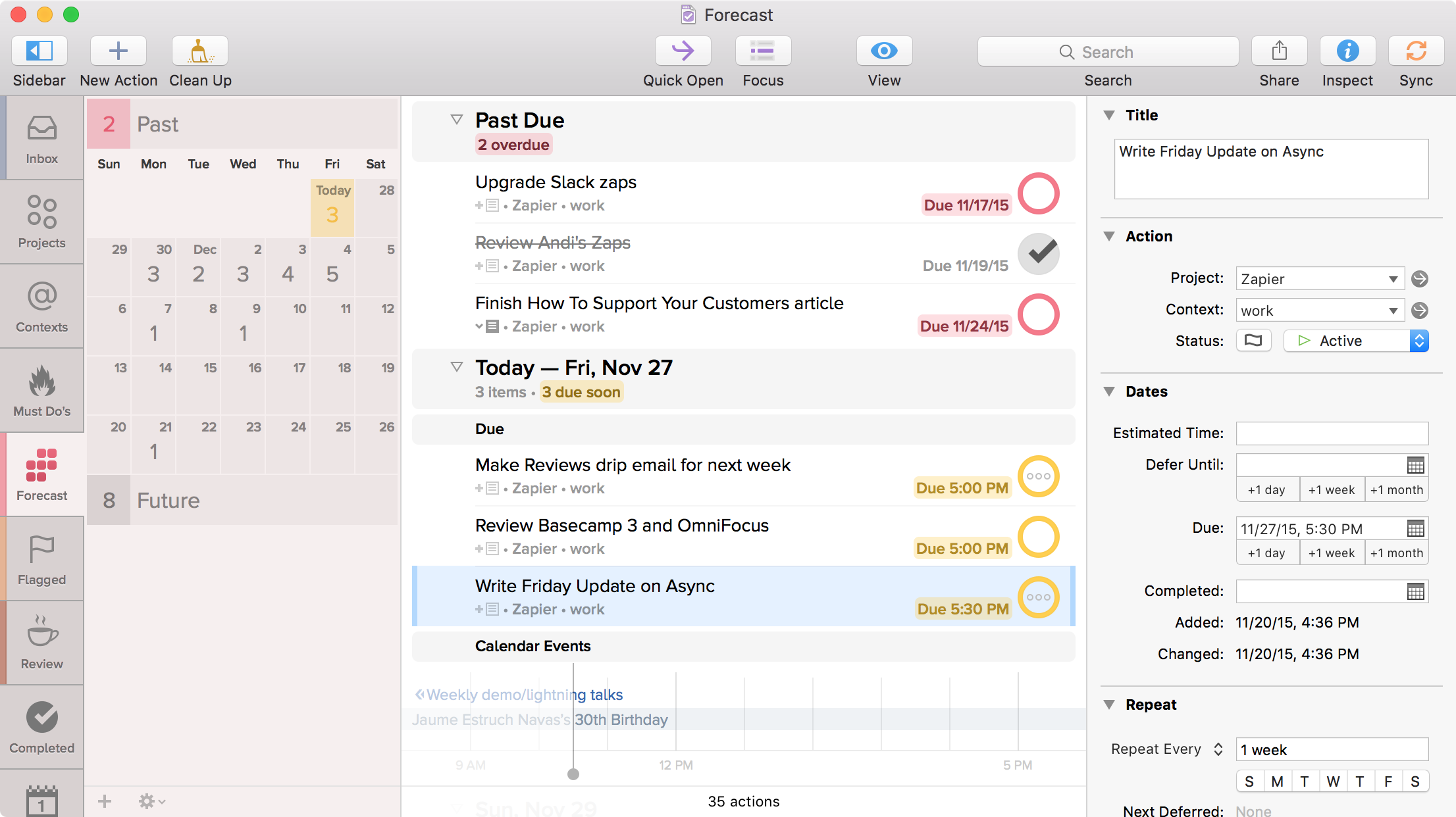 OmniFocus is a comprehensive personal task management app that offers a great education discount program.