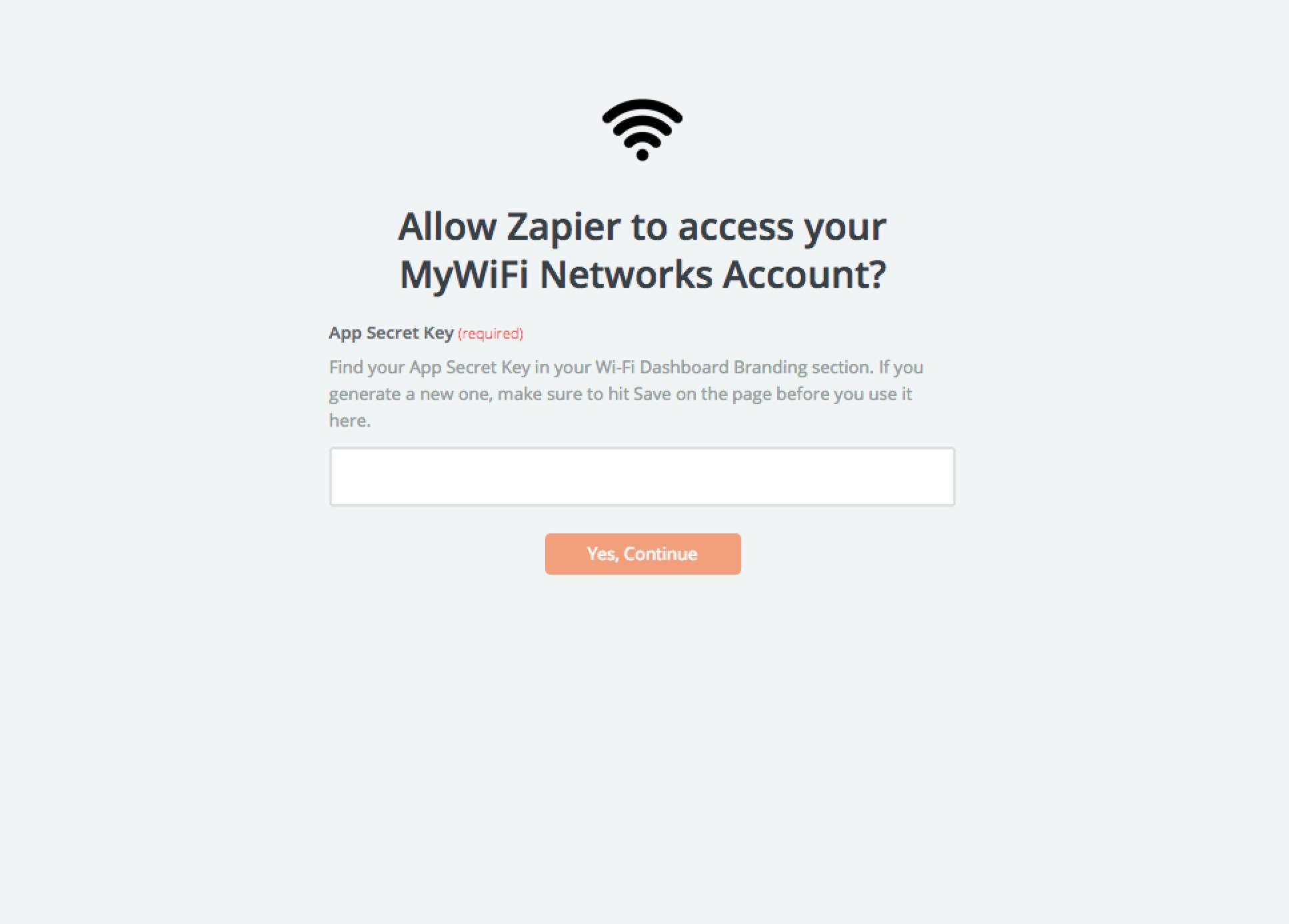 MyWiFi Networks API Key