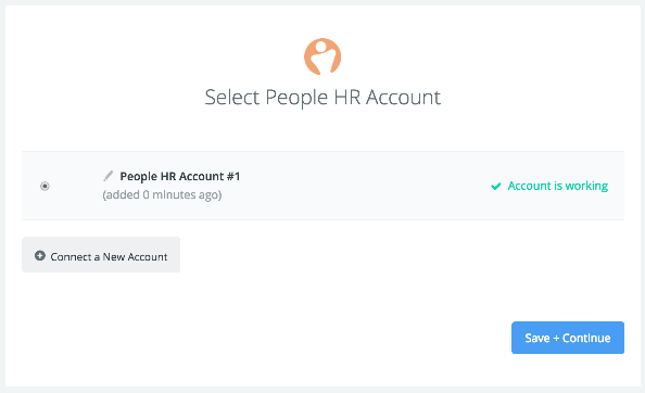 People HR connection successfull
