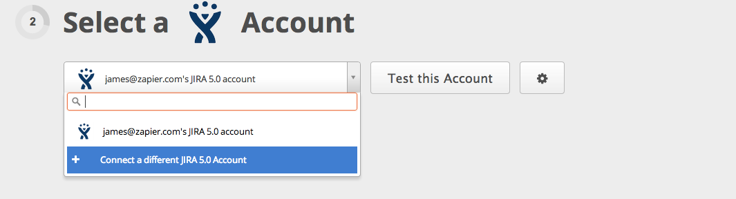 Connect your JIRA account to Zapier