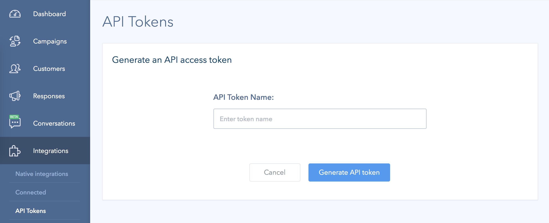 Retently API Key in account