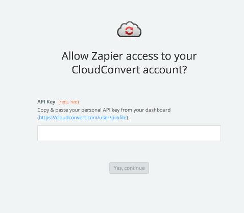 CloudConvert API Key