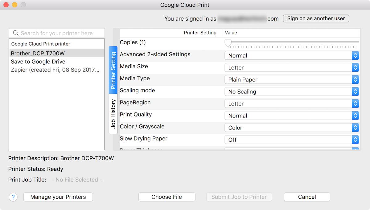 Cloud Print for Mac