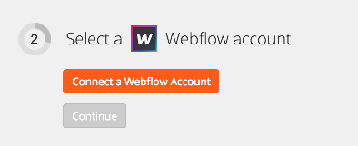 Connect your Webflow Account