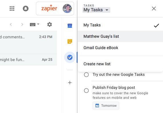 Google Tasks Lists