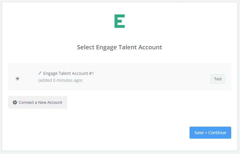 Engage Talent connection successfull