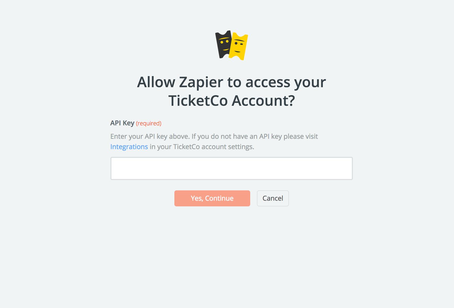 TicketCo API Key