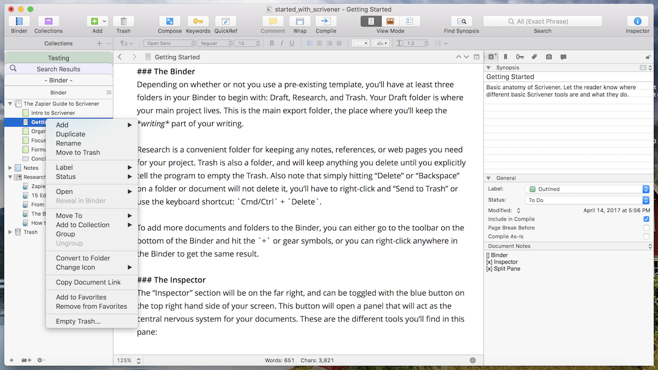Scrivener gives college students a discount on their powerful writing app.