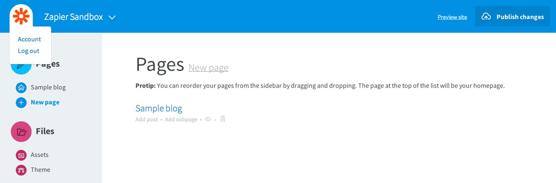 Siteleaf Account Settings
